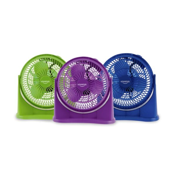 """Ventilador plástico circular colores 8""""."""