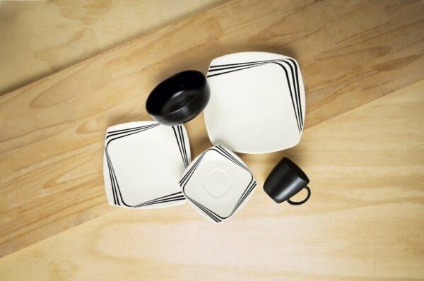 Vajilla Cuadro Dark - Mug 4 puestos.