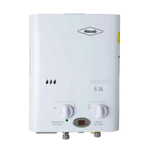 Calentador de agua 5.5 litros Haceb de paso a gas natural tiro natural blanco