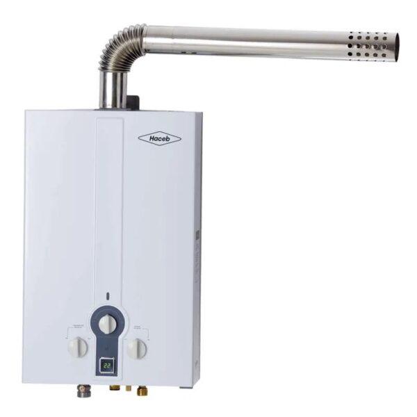 Calentador de agua 6 litros Haceb de paso a gas propano tiro forzado blanco
