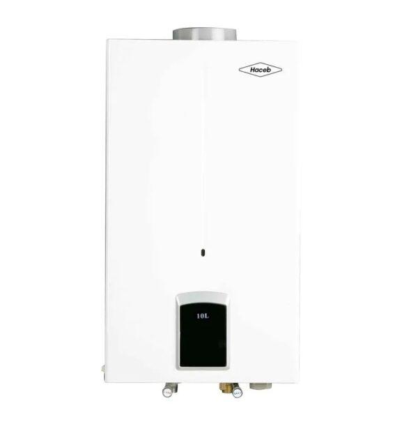 Calentador de agua 10 litros Haceb de paso a gas natural tiro natural blanco
