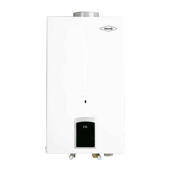 Calentador de agua 13 litros Haceb de paso a gas natural tiro natural blanco