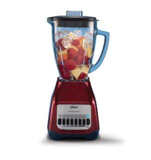 Licuadora Vidrio 1.5 litros 6 velocidades rojo.