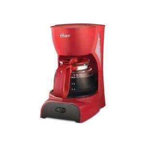 Cafetera roja de 4 tazas.